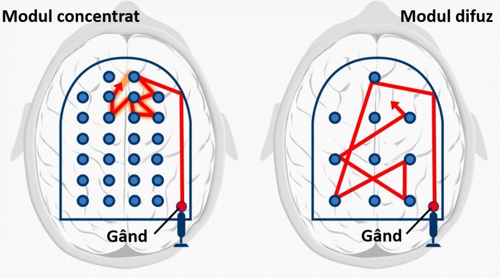 Modul concentrat vs modul difuz